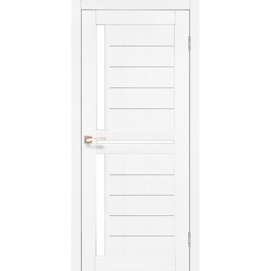 Дверь Scalea SC-04 со стеклом бронза Белый перламутр