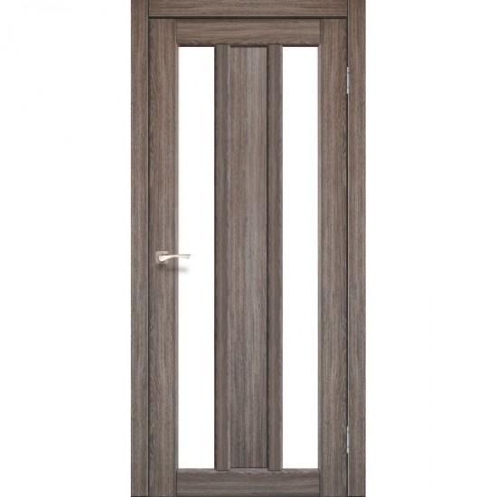 Дверь Napoli NP-01 со стеклом сатин Дуб грей