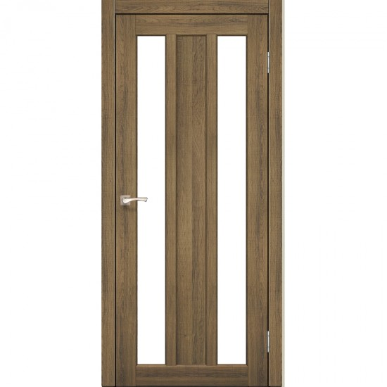Дверь Napoli NP-01 со стеклом сатин Дуб тобакко