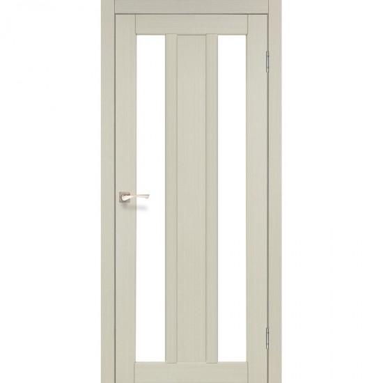 Дверь Napoli NP-01 со стеклом бронза Дуб беленый