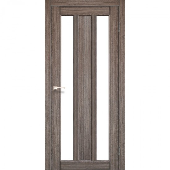 Дверь Napoli NP-01 со стеклом бронза Дуб грей