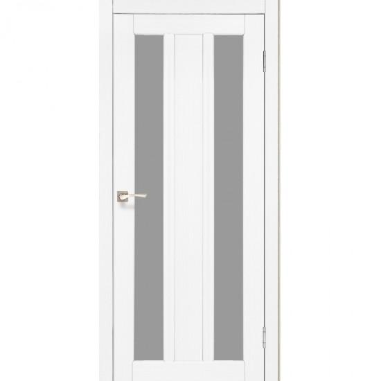 Дверь Napoli NP-01 со стеклом бронза Белый перламутр