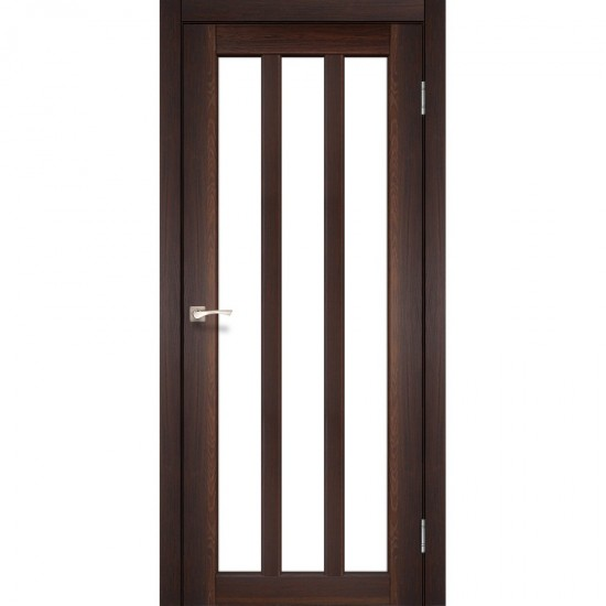 Дверь Napoli NP-02 со стеклом сатин Орех
