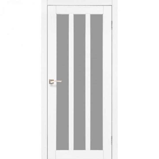 Дверь Napoli NP-02 со стеклом сатин Ясень белый