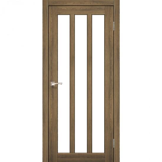 Дверь Napoli NP-02 со стеклом сатин Дуб тобакко