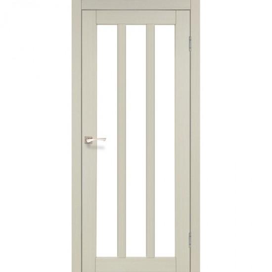 Дверь Napoli NP-02 со стеклом бронза Дуб беленый