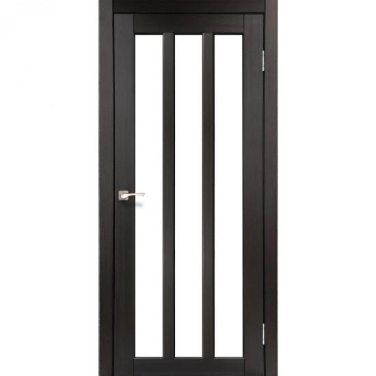 Дверь Napoli NP-02 со стеклом бронза Венге