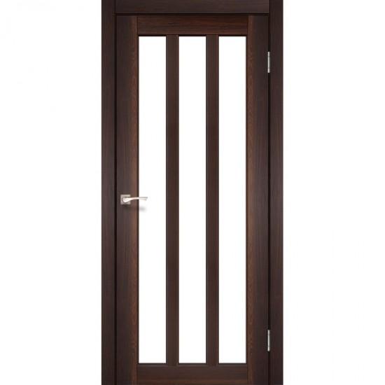 Дверь Napoli NP-02 со стеклом бронза Орех