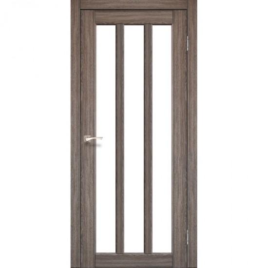 Дверь Napoli NP-02 со стеклом бронза Дуб грей