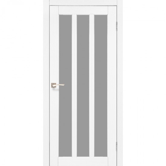 Дверь Napoli NP-02 со стеклом бронза Белый перламутр