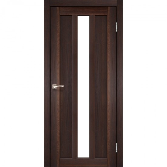 Дверь Napoli NP-03 со стеклом сатин Орех