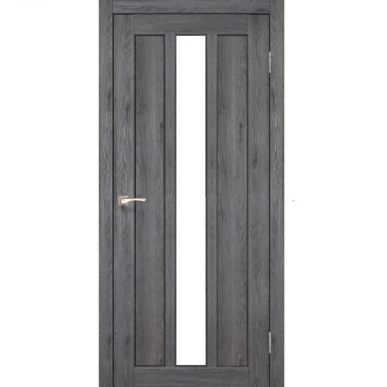 Дверь Napoli NP-03 со стеклом сатин Дуб марсала