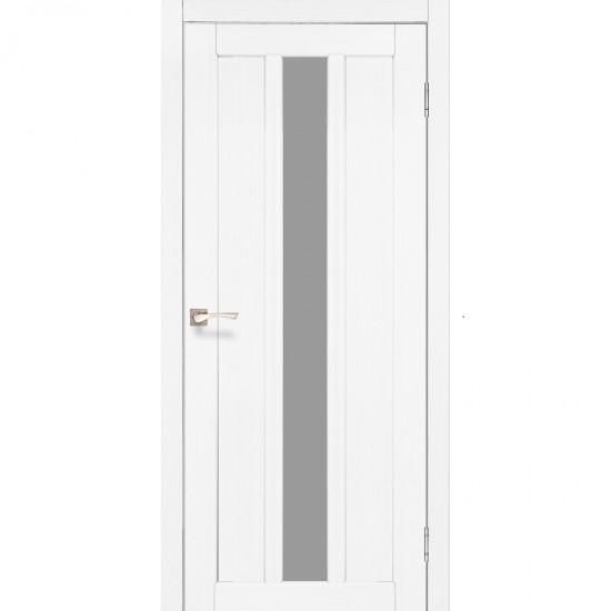 Дверь Napoli NP-03 со стеклом сатин Ясень белый