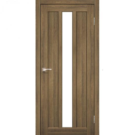 Дверь Napoli NP-03 со стеклом сатин Дуб тобакко