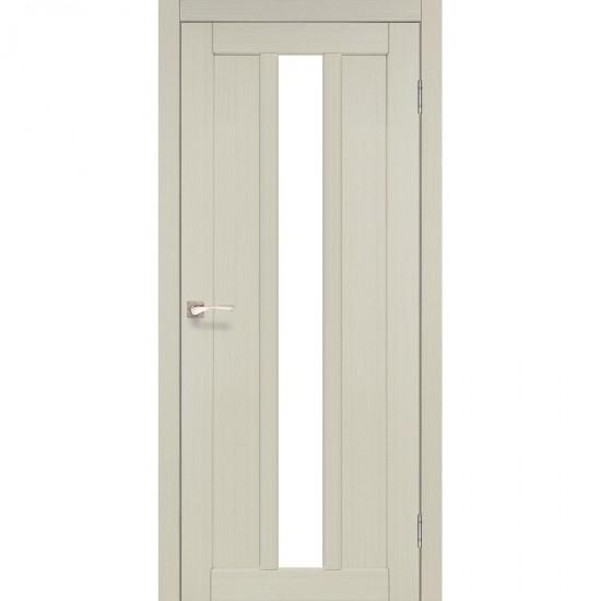 Дверь Napoli NP-03 со стеклом бронза Дуб беленый