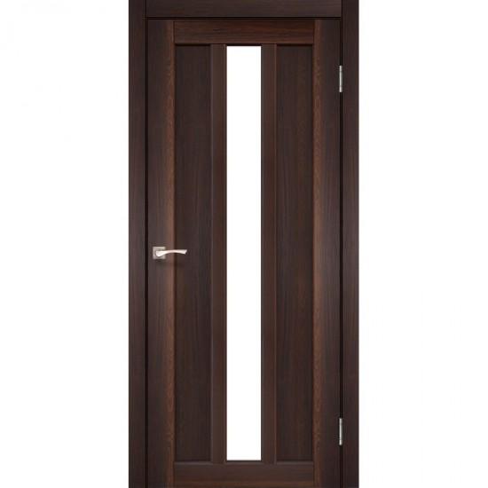 Дверь Napoli NP-03 со стеклом бронза Орех