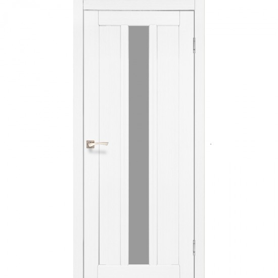 Дверь Napoli NP-03 со стеклом бронза Белый перламутр