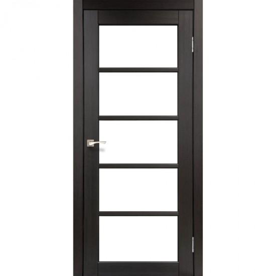 Дверь Vicenza VC-02 со стеклом сатин Дуб марсала