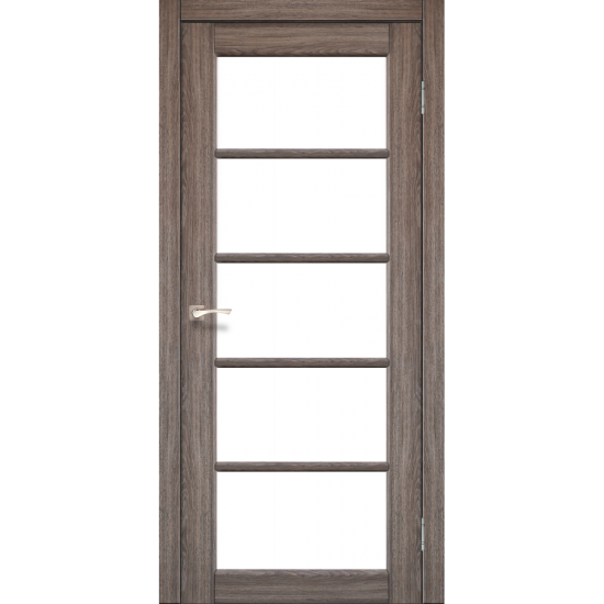 Дверь Vicenza VC-02 со стеклом бронза Дуб грей