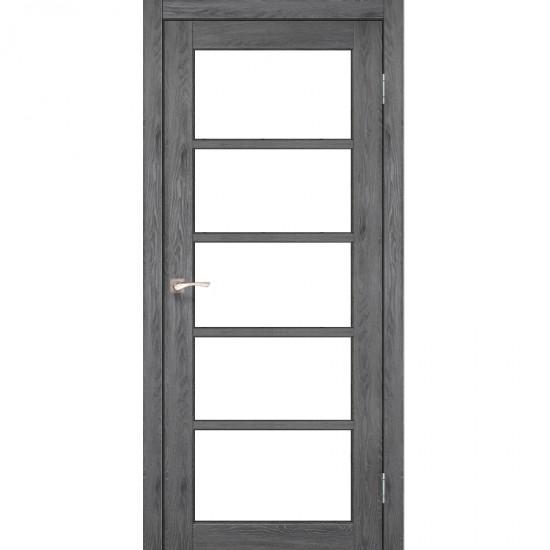 Дверь Vicenza VC-02 со стеклом бронза Дуб марсала