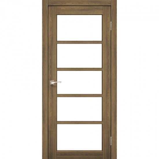 Дверь Vicenza VC-02 со стеклом бронза Дуб браш