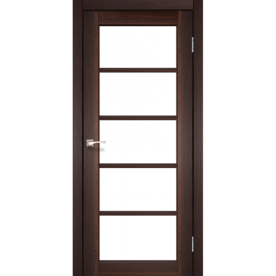 Дверь Vicenza VC-02 со стеклом бронза Сталь кортен