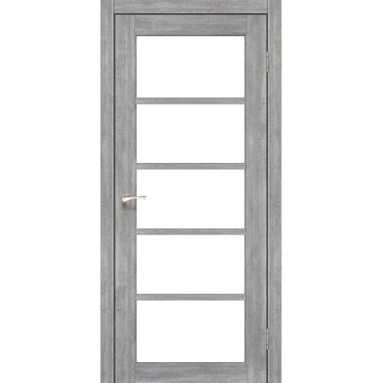 Дверь Vicenza VC-02 со стеклом бронза Лайт бетон