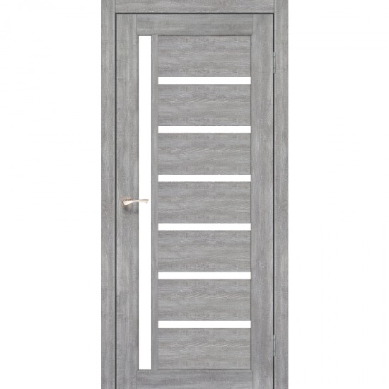 Дверь Valentino VL-01 со стеклом сатин Эш-вайт