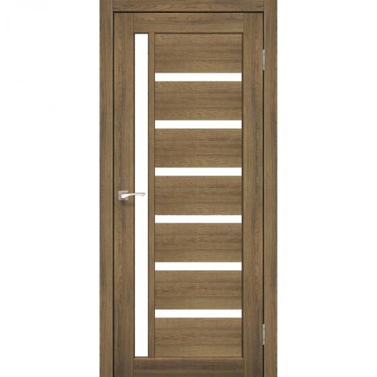 Дверь Valentino VL-01 со стеклом сатин Сталь кортен