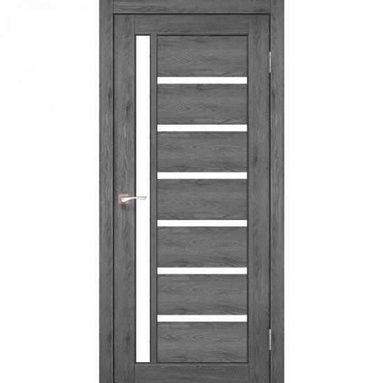 Дверь Valentino VL-01 со стеклом сатин Лофт бетон