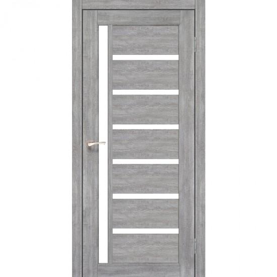 Дверь Valentino VL-01 со стеклом сатин Лайт бетон