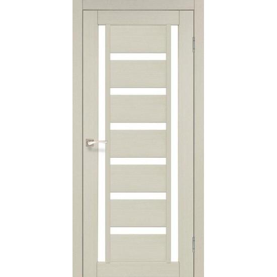 Дверь Valentino VL-02 со стеклом сатин Дуб беленый