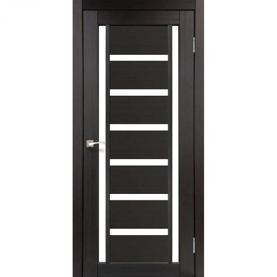 Дверь Valentino VL-02 со стеклом сатин Венге