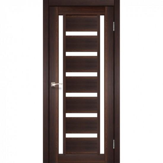 Дверь Valentino VL-02 со стеклом сатин Орех