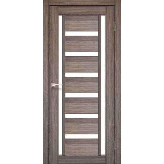 Дверь Valentino VL-02 со стеклом сатин Дуб грей
