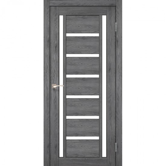 Дверь Valentino VL-02 со стеклом сатин Дуб марсала