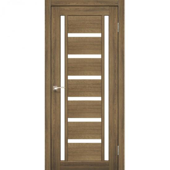 Дверь Valentino VL-02 со стеклом сатин Дуб тобакко