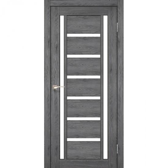 Дверь Valentino VL-02 со стеклом сатин Лофт бетон