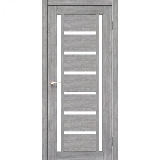 Дверь Valentino VL-02 со стеклом сатин Лайт бетон