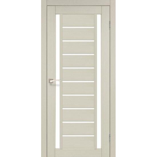 Дверь Valentino VL-03 со стеклом сатин Дуб беленый