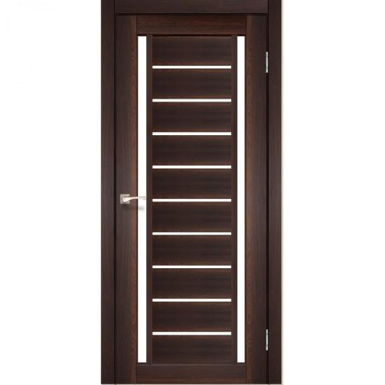 Дверь Valentino VL-03 со стеклом сатин Орех