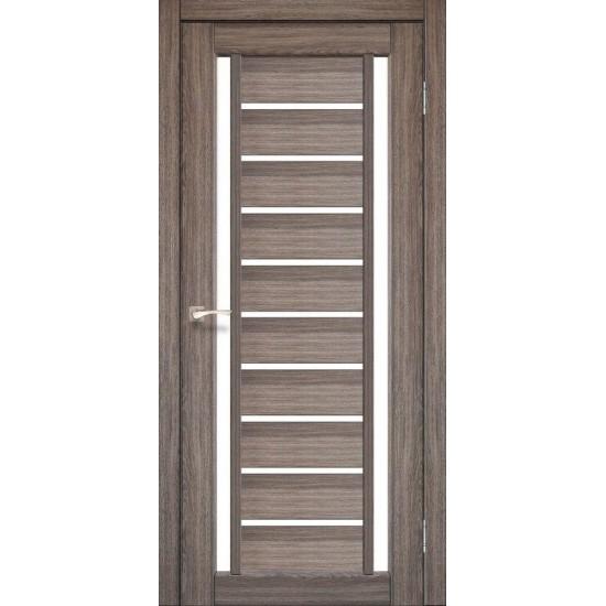 Дверь Valentino VL-03 со стеклом сатин Дуб грей