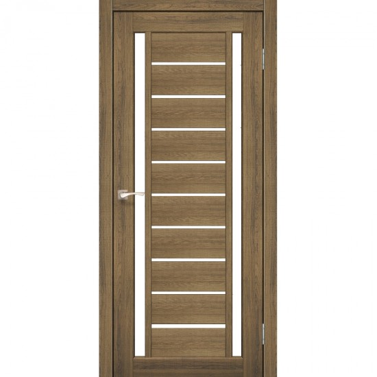 Дверь Valentino VL-03 со стеклом сатин Дуб браш