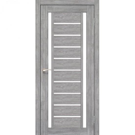 Дверь Valentino VL-03 со стеклом сатин Эш-вайт