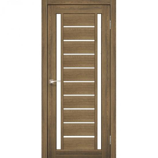 Дверь Valentino VL-03 со стеклом сатин Дуб тобакко