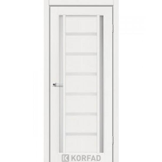 Дверь Valentino VL-03 со стеклом сатин Белый перламутр