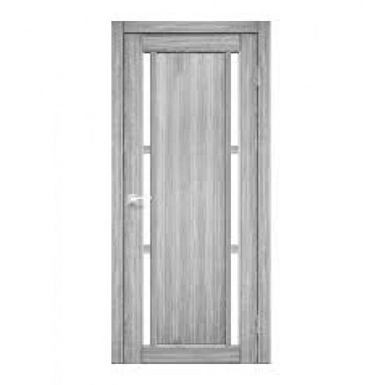 Дверь Valentino VL-04 со стеклом сатин Эш-вайт