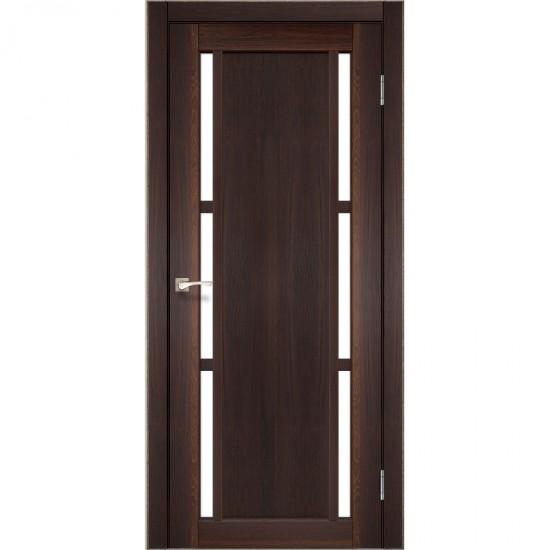 Дверь Valentino VL-04 со стеклом сатин Дуб тобакко