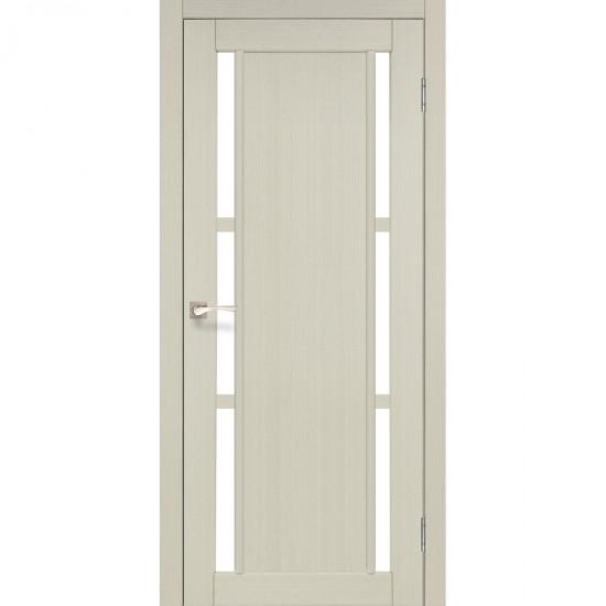 Дверь Valentino VL-04 со стеклом сатин Белый перламутр