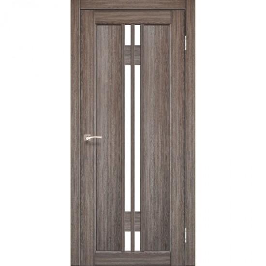 Дверь Valentino VL-05 со стеклом сатин Дуб грей